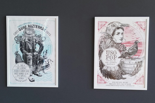 """""""Collages ilustratuak"""", Iñaki Gonzalezen erakusketa"""