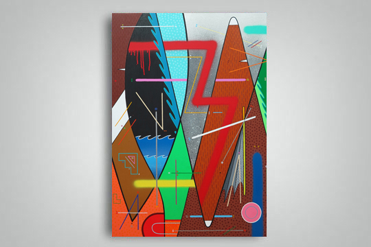 """Naturaleza abstracta"", Sixe Paredes artistaren erakusketa"