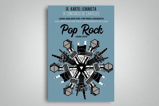 Pop Rock Leioa-ren XVIII. edizioa iragartzeko kartel lehiaketa