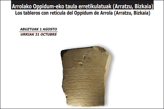 Museoa Aztarnaz Aztarna: Arrolako Oppidum-eko taula erretikulatuak (Arratzu, Bizkaia)