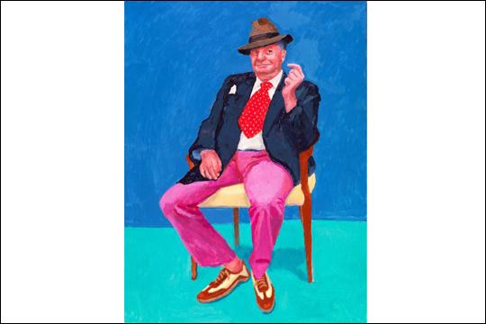 """""""David Hockney. 82 erretratu eta natura hil bat"""""""