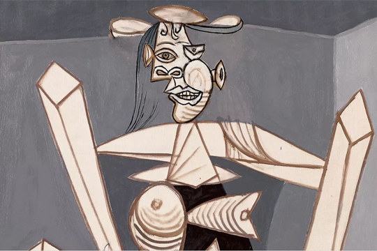 "Pablo Picasso-ren ""Femme assise dans un fauteuil (Dora)"" obraren erakusketa"