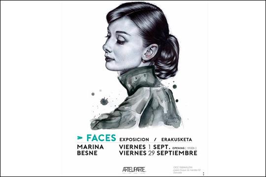 """""""FACES"""", Marina Besné-ren erakusketa"""