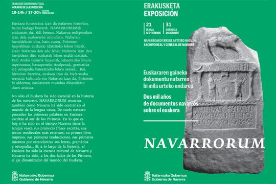 """""""NAVARRORUM. Euskararen gaineko dokumentu nafarren bi mila urteko ondarea"""""""