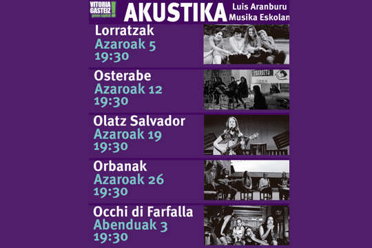 Akustika Zikloa 2017 - Emakumeak & Musika euskaraz