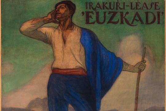 """""""Irakurri-Léase 'Euzkadi'"""", Aurelio Artetaren margolana"""