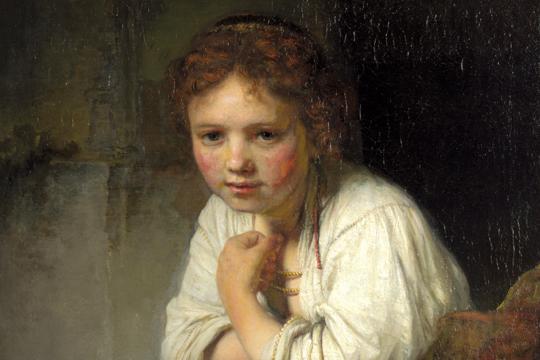 """Rembrandt-en """"Neskatila leihoan"""" margolanaren erakusketa"""