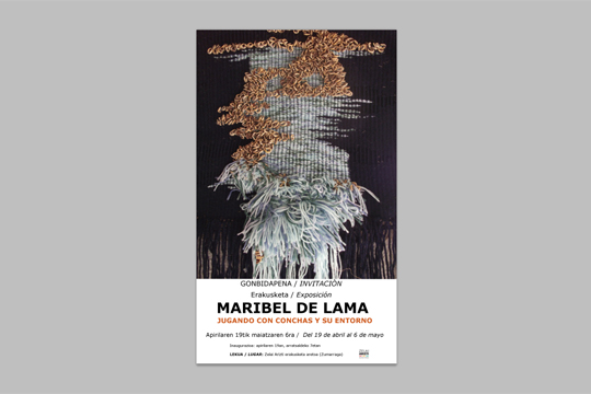 """""""Jugando con conchas y su entorno"""", Maribel de Lamaren erakusketa"""