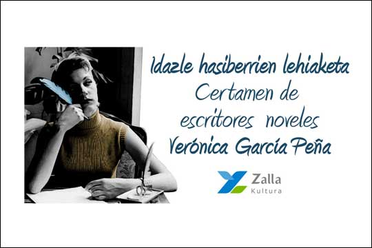 """""""Verónica García-Peña"""" idazle berrien lehiaketa 2018"""