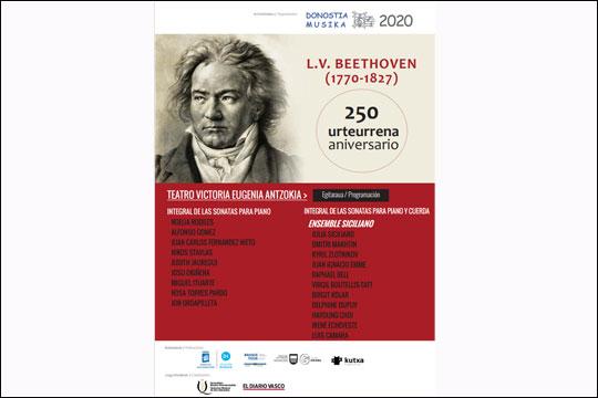 19 kontzertu, Beethovenen jaiotzaren 250. urteurrena ospatzeko