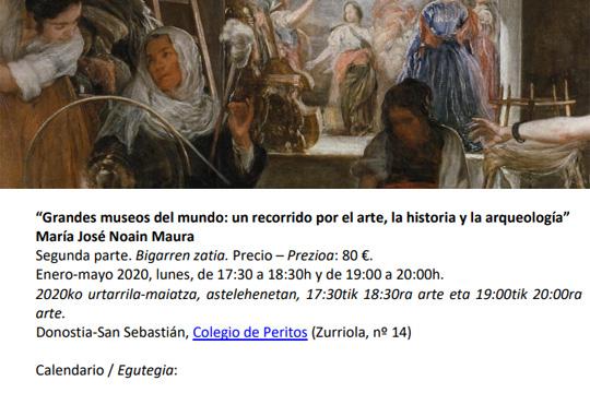 """""""Grandes Museos del Mundo"""" ikastaroa"""