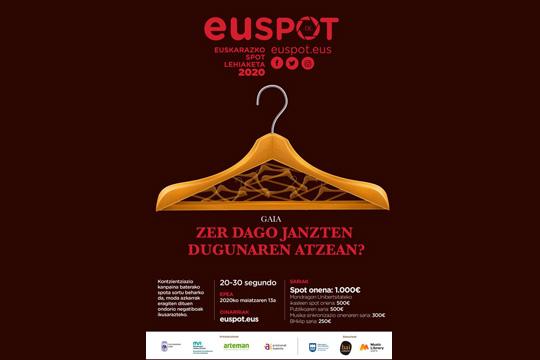 Euspot euskarazko spot lehiaketa 2020