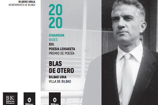 """""""Blas de Otero Bilbo Uria"""" Nazioarteko Poesia Lehiaketa 2020"""
