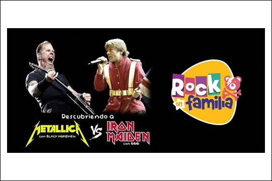 "Rock en fanlilia: ""Descubriendo a Metallica + Iron Maiden"""